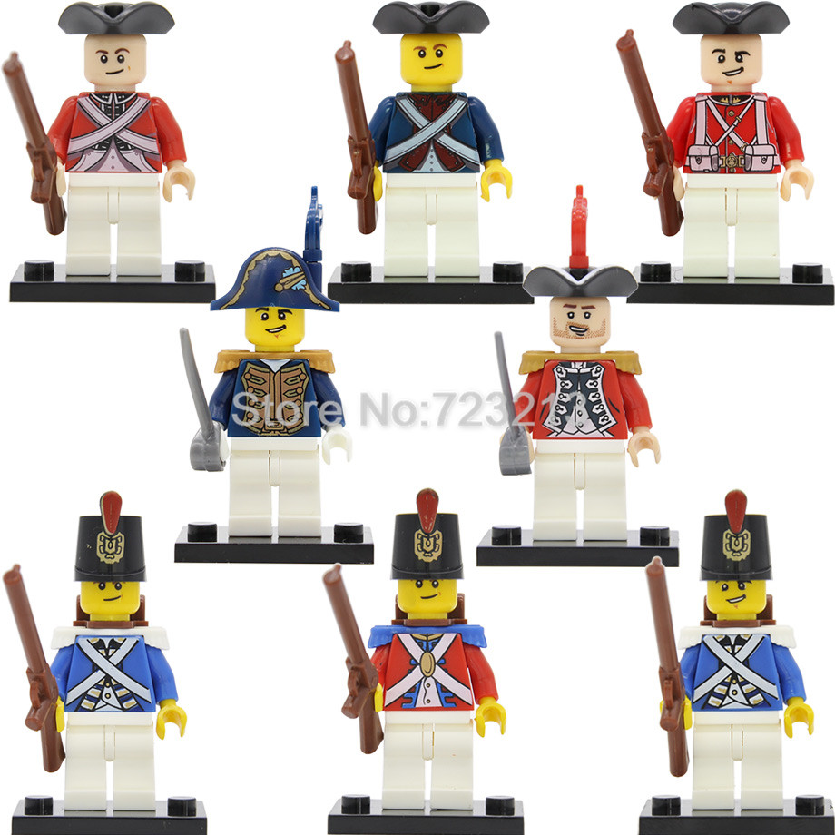Navy Figure Single Loyal Imperial Guard Soldier Military SWAT Building Blocks Brick Caribbean Pirate Educational Toys Legoing