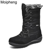 Moipheng damskie platformy zimowe buty krowa Suede połowy łydki buty wojskowe dla kobiet ciepłe pluszowe buty kobiety Botas De Mujer śnieg buty