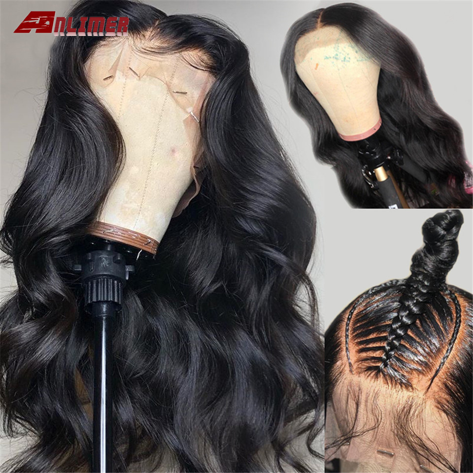 Full Lace Human Hair Wigs Pre Plucked Remy Brazilian Body Wave Lace Wigs With Baby Hair 150% Density