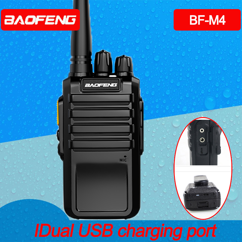 BaoFeng BF-M4 Walkie Talkie With 16CH Clearer Voice Cb Radio And Long Range USB Charging Style Hunting Ham Radio Talkie-walkie
