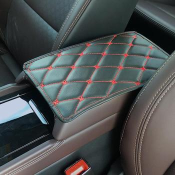 Car Armrest Box Pad Leather Microfiber Leather Car Seat Armrest Box Cover Universal Modified Interior Jewelry Decoration image