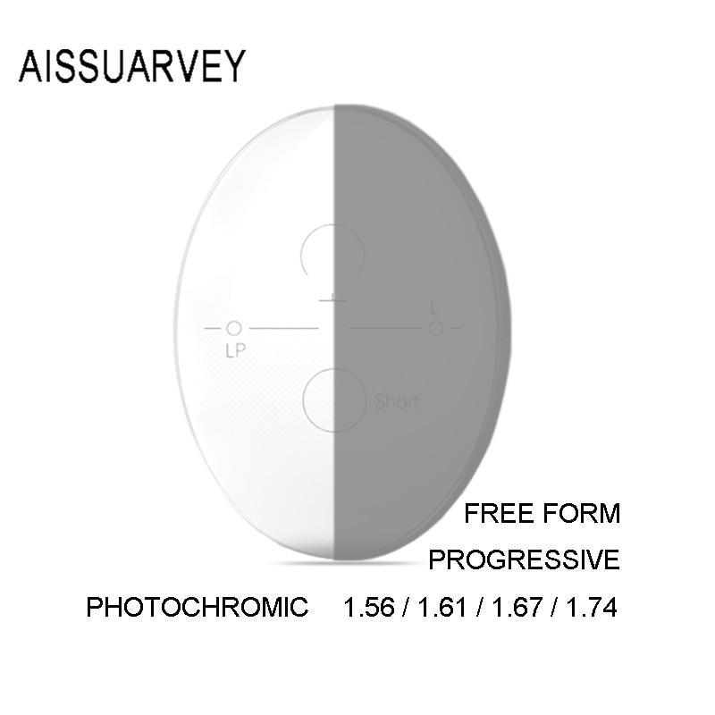 1.56 1.61 1.67 1.74 Aspherical Progressive Photochromic Optical Lenses Gray Prescription Multifocal Glasses Lens Driving UV400