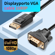 Displayport to VGA cable 1.8m DP to VGA adapter converter cable DP male to VGA male for HP Dell Asus lenovo PC laptop