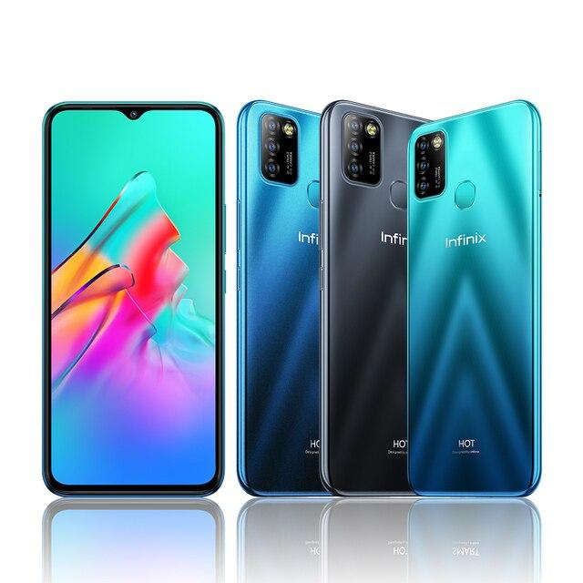 Global Version Infinix Hot 10 Lite 2GB 32GB Mobile Phone 6.6''HD Screen Smart Phone 5000mAh Battery 13MP AI Triple Camera 6
