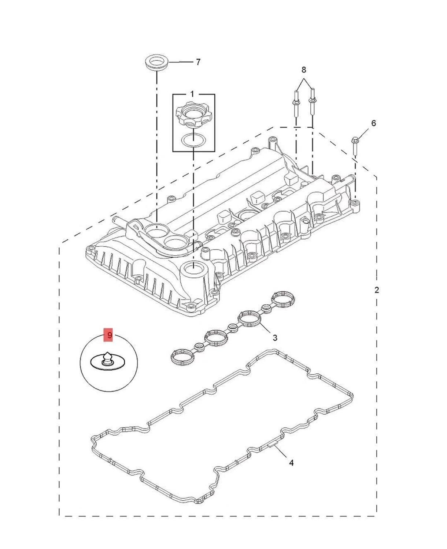 1pcs Camshaft cover check valve for Chinese SAIC ROEWE 350 MG3 MG5 1.5L Auto car motor parts 10038354
