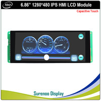 6.86 inch 1280*480 HMI Smart Intelligent IPS TFT LCD Module Display Screen w/ Capacitive Touch Panel