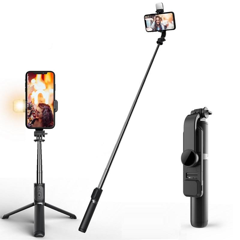 Mini Tripod Shutter Selfie-Stick Remote-Control Bluetooth Wireless Foldable Android