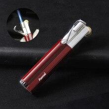 Новинка, турбо-зажигалка, газовая зажигалка большой емкости, цилиндрическая сигаретная зажигалка, электронные зажигалки, аксессуары для курения