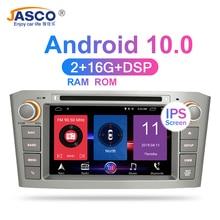 RAM Android 10.0 차량용 DVD 스테레오 멀티미디어 Headunit For Toyota Avensis/T25 2003 2008 자동 라디오 GPS 네비게이션 비디오 오디오