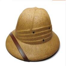 цена на RUHAO Summer Men's Straw Hat Sun Hat Sun Hat Dad Rowing Bucket Safari Jungle Miner Cap British British Soldier Army Cap
