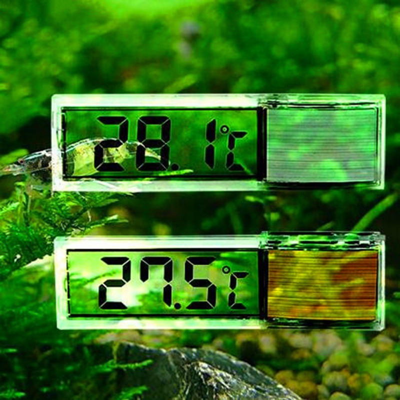 3D Digital Electronic Aquarium Thermometer Fish Tank Temp Meter Gold Silver Induction Type Fish Tank Thermometer