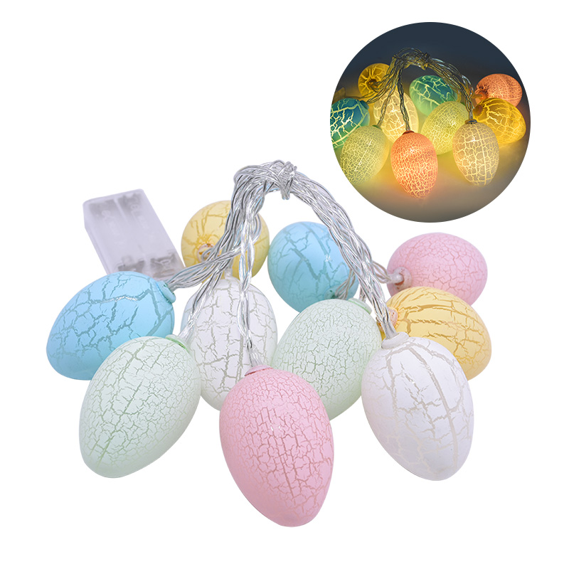 2020 Easter Decoration 1.6m  LED Light String Eggs Shaped Light Decor For Easter Party Supplies Easter Home Garland Decoration
