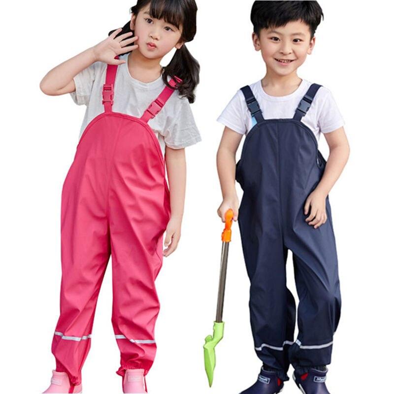 Детские подтяжки, непромокаемые штаны, детский комбинезон, детская одежда для мальчиков и девочек, комбинезон для детей, Dwq572|Полукомбинезоны|   | АлиЭкспресс