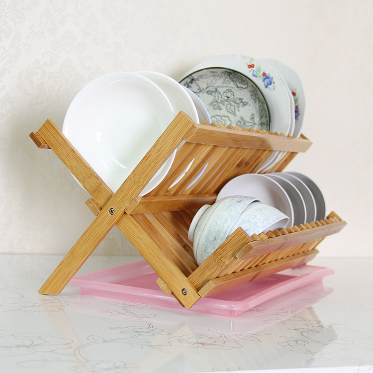 Manufacturers Wholesale Moso Bamboo Dish Rack Household Kitchen Supplies Storage Shelf Special Offer Customizable Logo