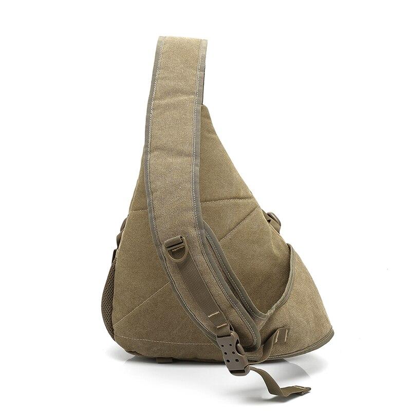 Men Canvas Sling Chest Pack Handbag Messenger Crossbody Travel Shoulder Bag New