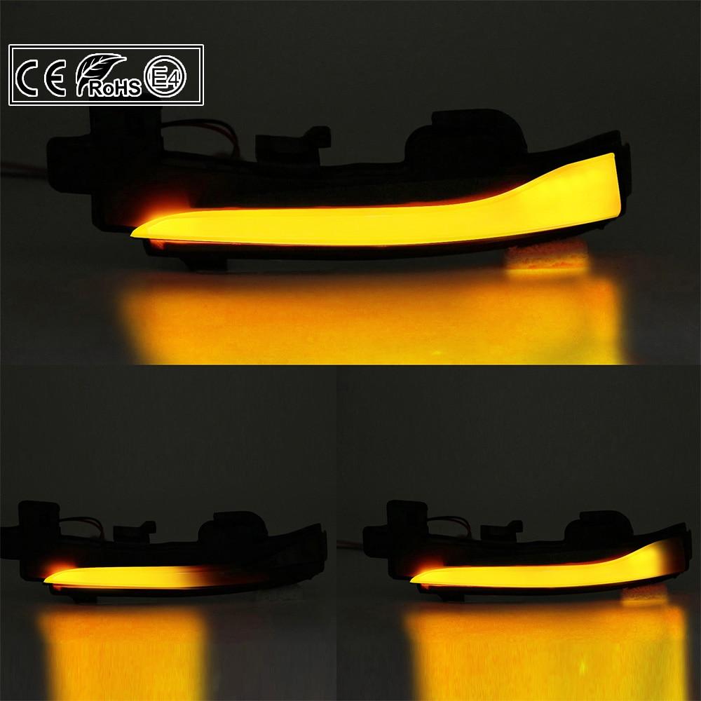 Paire LED dynamique rétroviseur latéral clignotant clignotant lampe pour Volvo S60 CC S60 II S80 II V40 CC 40 II V60 V60 CC V70 III - 5