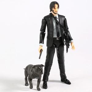 Image 4 - MAFEX 085 John Wick Capitolo 2 Keanu Reeves PVC Action Figure Da Collezione Model Toy
