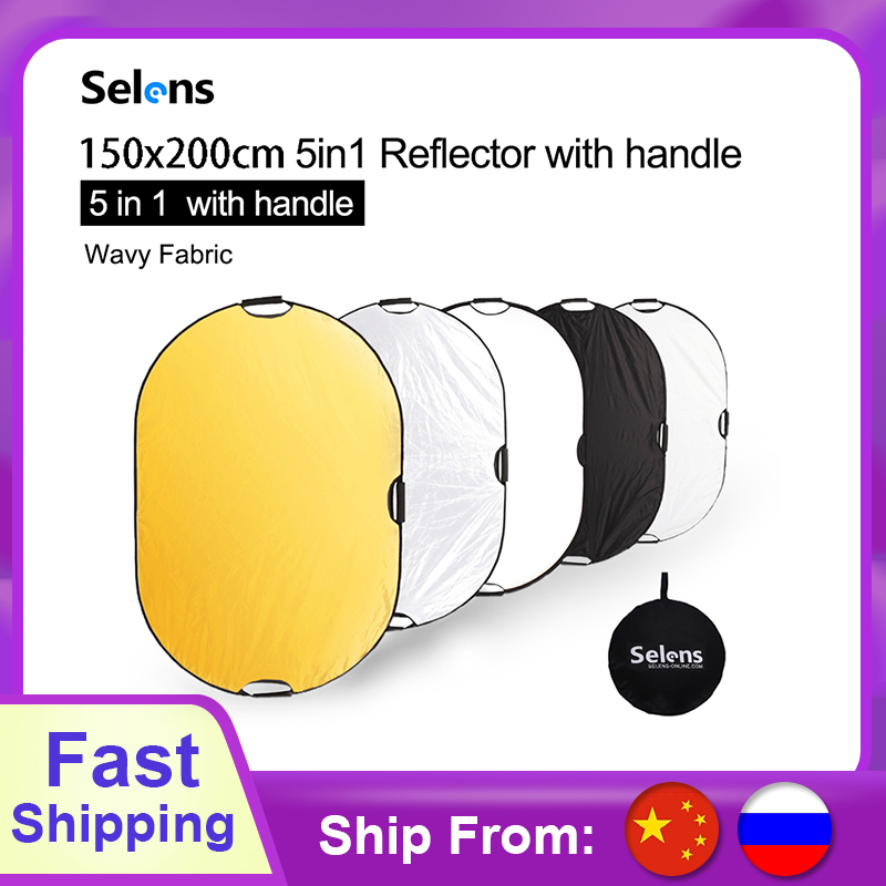 150x200CM 5 In 1 Reflector Photography Light Diffuser Portable Camera Light Reflector With Carry Case Reflector For Photography