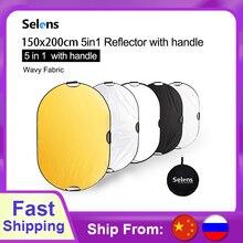 Taşınabilir reflektör fotoğraf ışık difüzör kamera ışık reflektörü taşıma çantası ile reflektör fotoğrafçılık için 150x200CM 5 in 1