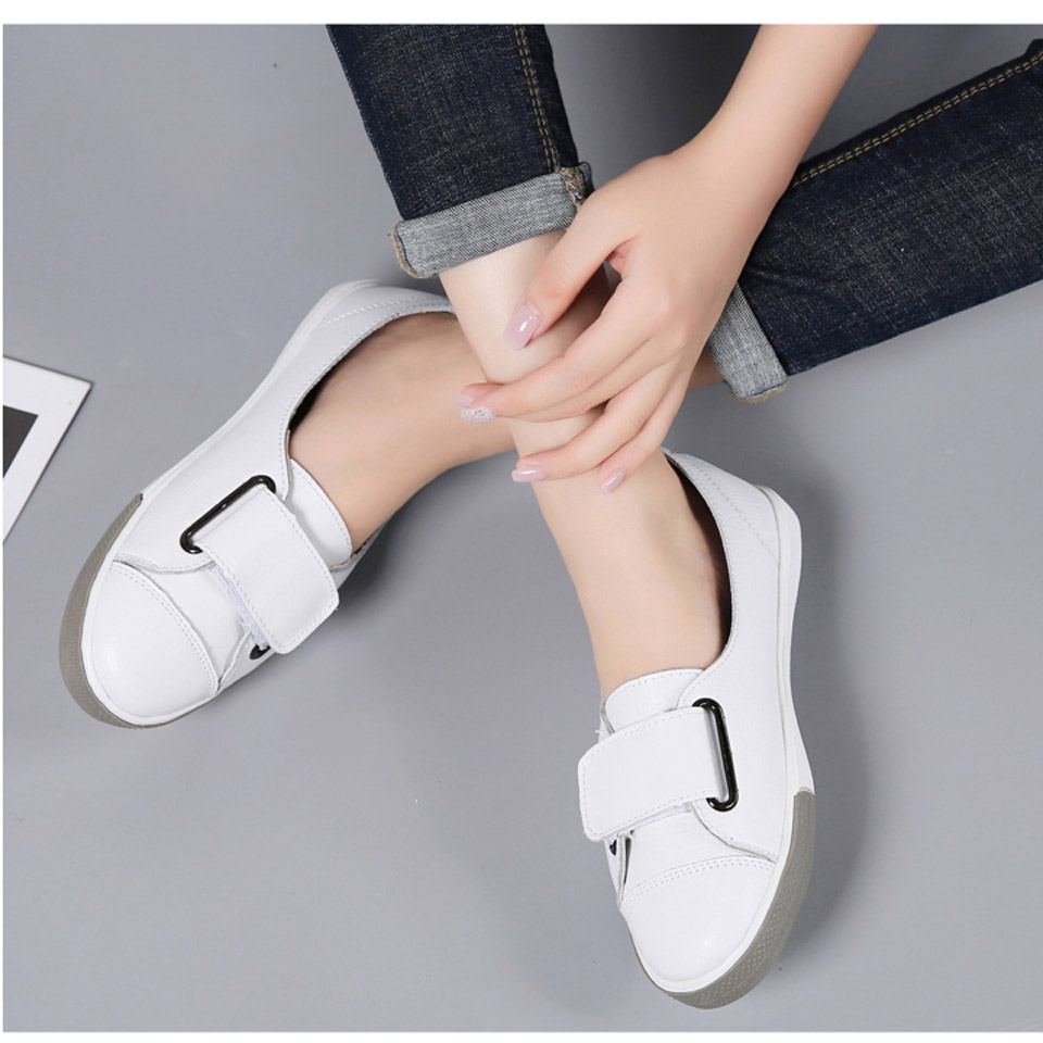 H137e072d5fa1468e98382992b54a9e5fj - Ngouxm Fashion Women Loafers Flats Woman Lady female Slip On White Genuine Leather Moccasins Casual Shoes zapatos de mujer
