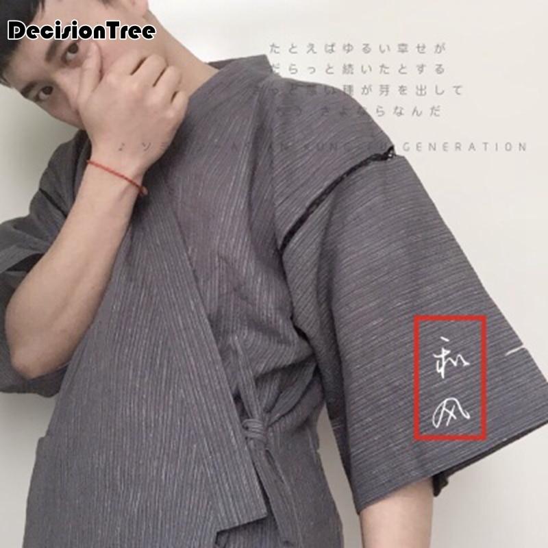 2019 100% Cotton Men's Clothing Japanese Kimono Sleep Men Pajama Sets Maple Sleepwear Home Clothing Pijama Hombre