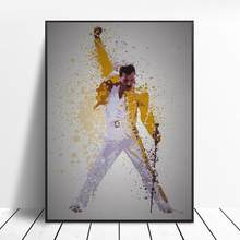 Queen Freddie Mercury Bohemian Rhapsody Canvas Painting Posters And Prints Pictures On The Wall Abstract Decorative Home Decor(China)