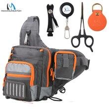 Maximumcatch Crossbody balıkçılık tek kollu çanta su geçirmez çok fonksiyonlu balıkçılık cazibesi olta takımı çanta paketi