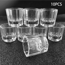 10pcs Transparent Glass Bowl Cups Nail Manicure Salon Tools