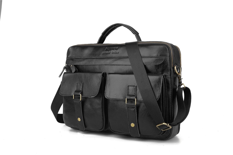 masculino maleta de couro encerado ombro bolsa