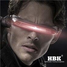 HBK X-man laser Cyclops Halloween materiali a Memoria di occhiali da sole Del Partito del progettista Speciale Polarized Viaggi Shield Freddo UV400