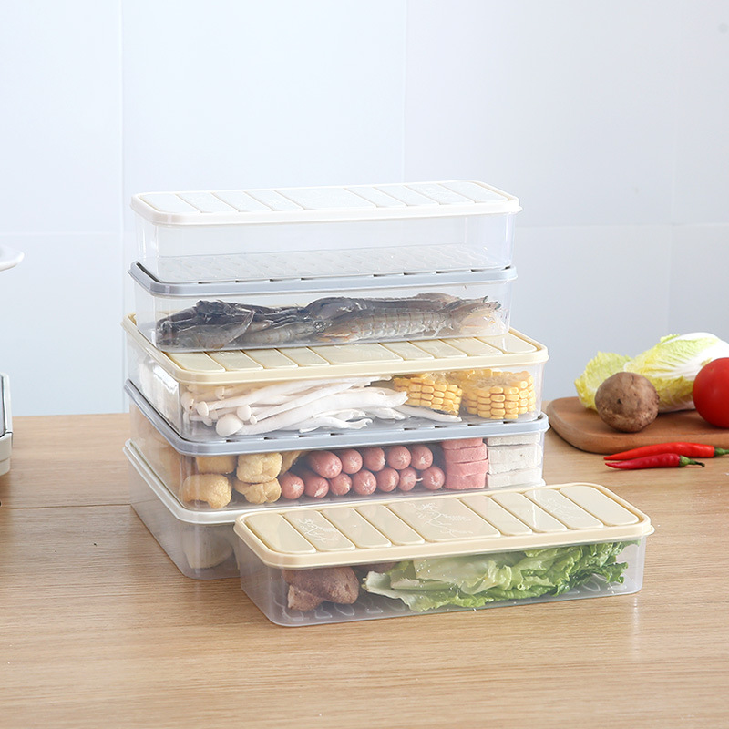 Rectangle Food Storage Container Crisper Refrigerator Organizer Large Capacity Food Fruit Vegetable Storage