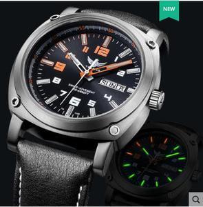 Image 2 - Yelang גברים אוטומטי שעון טריטיום אור T100 טיטניום מקרה שוויץ תנועה 26 תכשיטים WR200M ספיר מכאני Diver