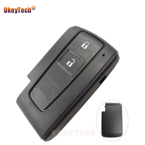 Image 1 - OkeyTech 2 Button Replacement Remote Key Shell Fob for Toyota Prius Corolla Verso Smart Card No Blade Free Shipping Cover Case