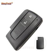 OkeyTech 2 zamiennik z przyciskami obudowa pilota bez kluczyka Fob dla Toyota Prius Corolla Verso Smart Card bez grota darmowa wysyłka pokrywy skrzynka