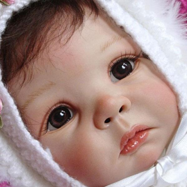 NPK 21 pouces Reborn Kit de poupée pièces de poupée inachevées daphné par Elly Knoops amour visage grands yeux bébé