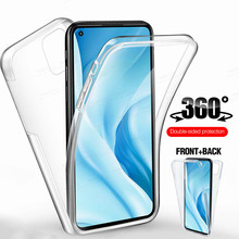 For Xiaomi 11 Lite Case 360° Front Back Transparent Phone Cover Xiomi Mi 11 Light Mi11 11Lite 5G 4G Shockproof Protection Coque