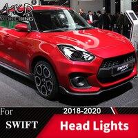 Lampa czołowa do samochodu Suzuki Swift 2018-2020 Swift reflektory światła przeciwmgielne światła do jazdy dziennej DRL H7 LED Bi Xenon żarówki akcesoria samochodowe