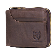 BULLCAPTAIN Brand Leather Men's Multifunctional Wallet Short