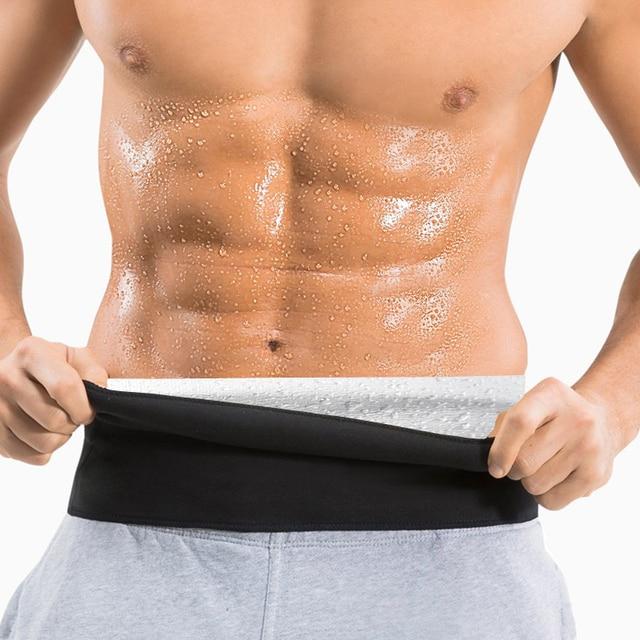 Newest Men Sweat Belt Body Shaper Waist Trainer Tummy Control Belt Sauna Slimming Strap Fitness Sweat Shapewear for Fat Burner
