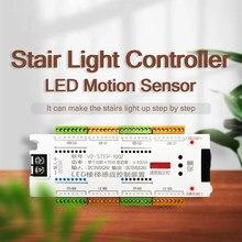 Treppen Licht Streifen LED Motion Sensor 32 Kanal Controller Indoor Motion Nacht licht 12V/24V Flexible Streifen für Treppen Lichter