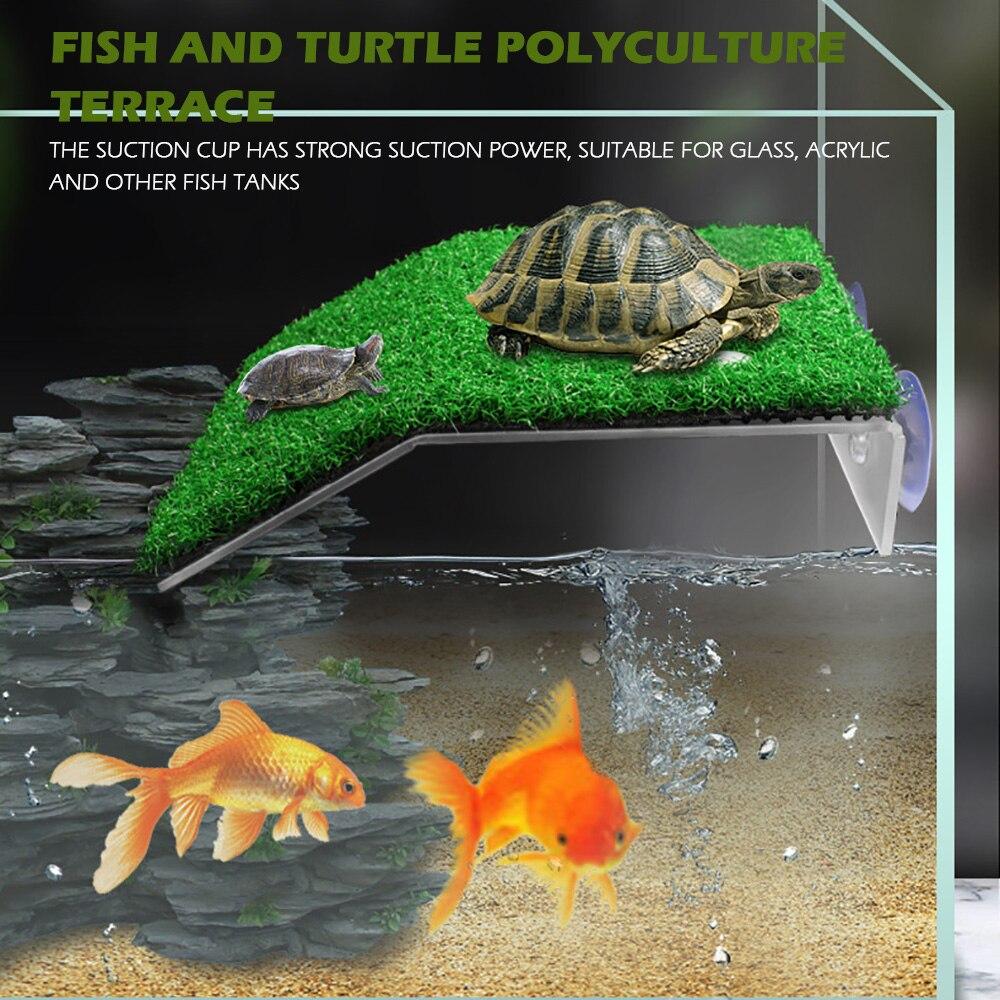 Аквариумная платформа для черепахи, декоративный акриловый мох для черепахи, остров черепахи, для аквариумов, рептилий