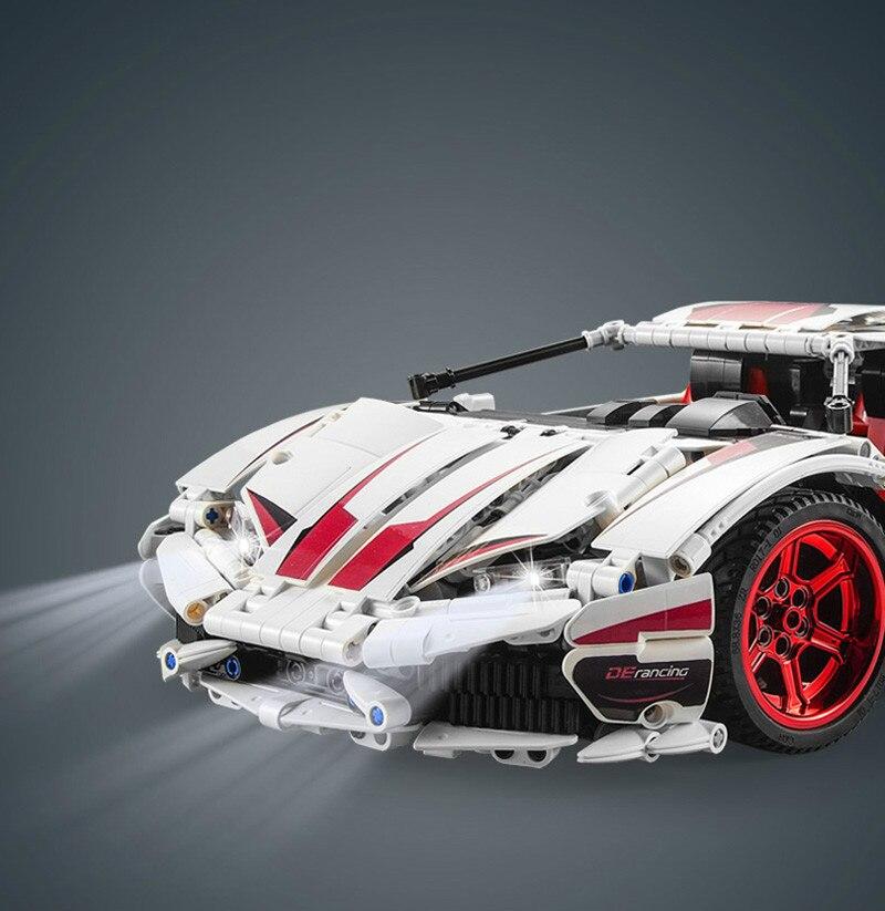 NIEUWE CADA LP610 RC Super Racing Auto Bricks Compatibel Technic Model Bouwstenen Afstandsbediening Auto Racing Speelgoed Voor Kinderen - 5