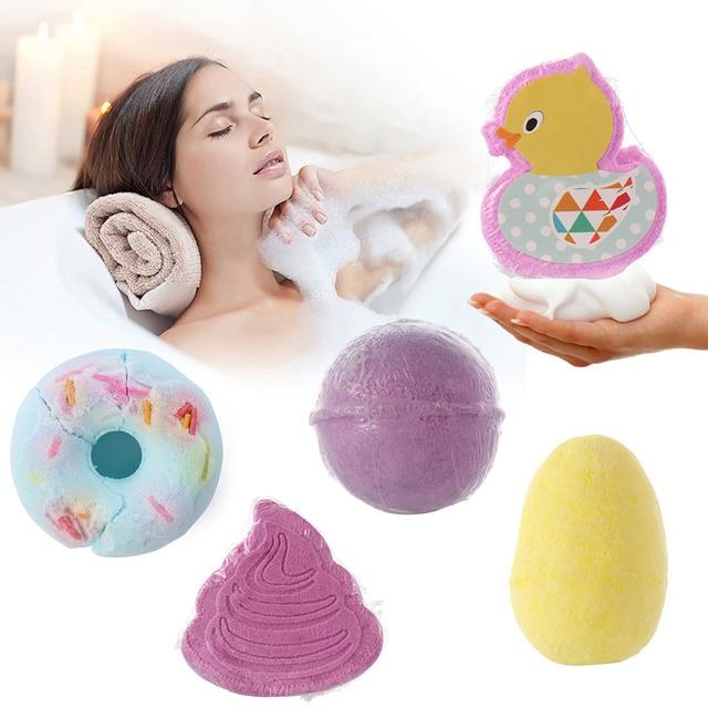 8 Styles Bath Salt Skin Whitening Natural Skin Care Cloud Bombs Ball Exfoliating Rainbow Bath Salt Moisturizing Bubble Bath Salt