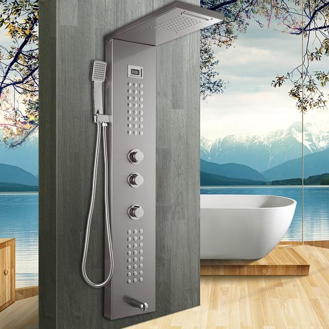Torayvino Temperature Digital Display, Bathroom Shower Panels