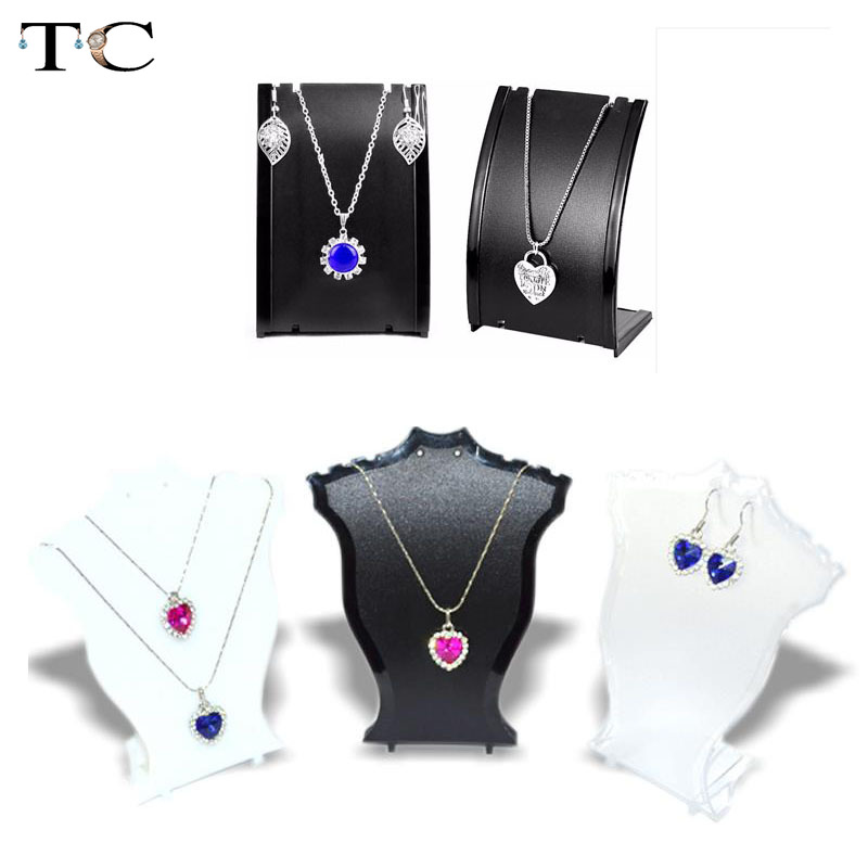 Necklace Holder Pendant Jewellry Display Stand Earrings Display Stand for Exhibition Shelf Jewelry Photography Props