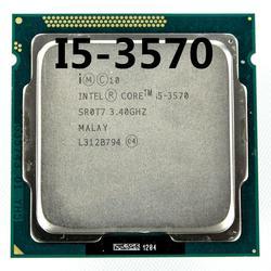 Процессор intel i5 3570 четырехъядерный 3,4 ГГц L3 = 6 м 77 Вт Разъем LGA 1155 настольный процессор Рабочая 100%