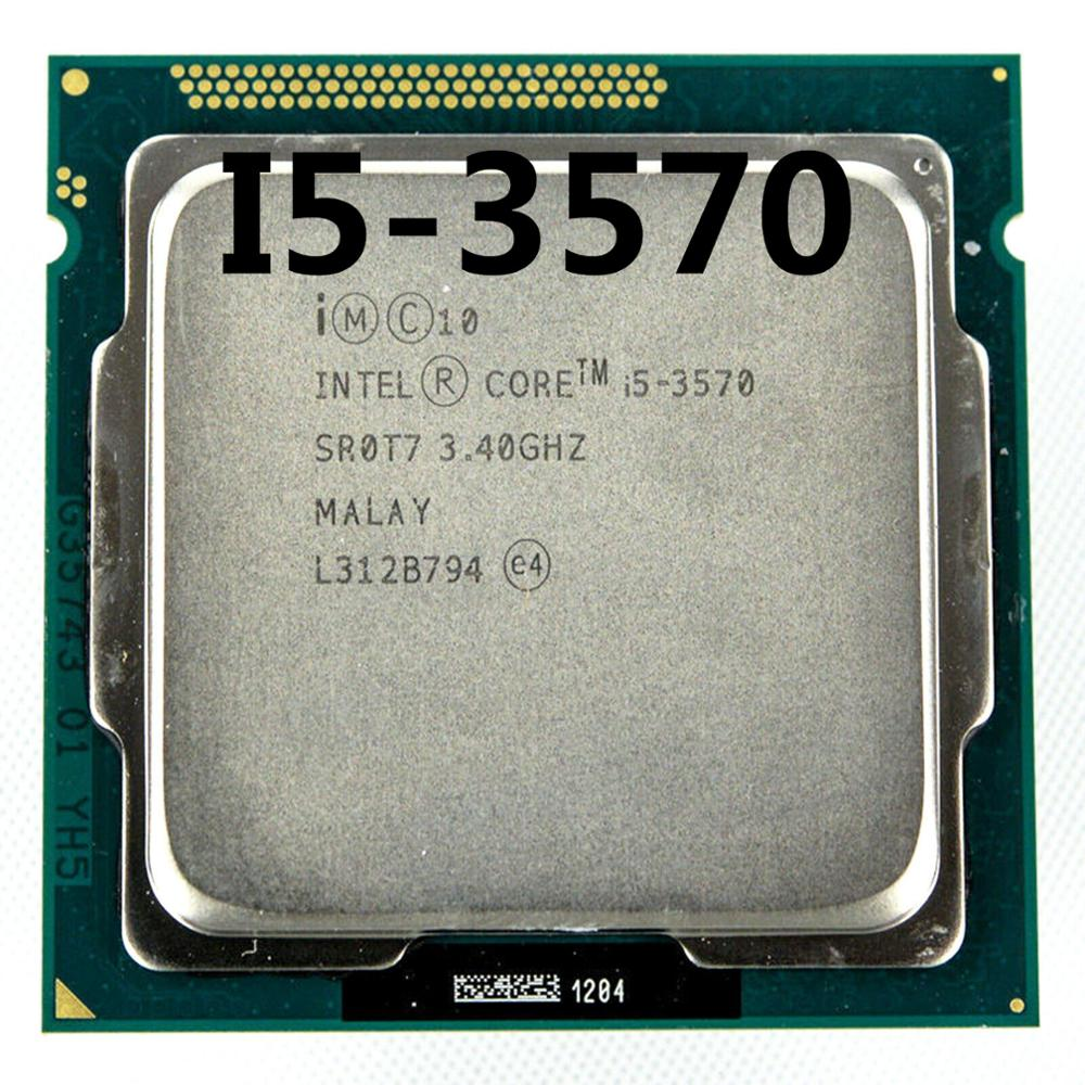 intel <font><b>i5</b></font> <font><b>3570</b></font> Processor Quad-Core 3.4Ghz L3=6M 77W Socket <font><b>LGA</b></font> <font><b>1155</b></font> Desktop CPU working 100% image