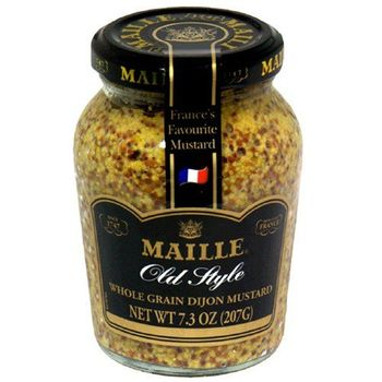 Maille Old Style Mustard, 7.3-Ounce Bottles (Pack of 6)