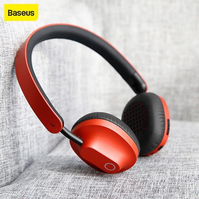 Baseus D01Wireless Bluetooth אוזניות אוזניות עם מיקרופון עבור טלפונים מחשב עם מיקרופון משחקי אוזניות סטריאו bluetooth אוזניות