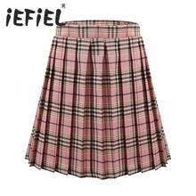 Plaid Skirt Clothing Pleated Scottish-Style Teenager Girls Toddler Baby School Kids Big